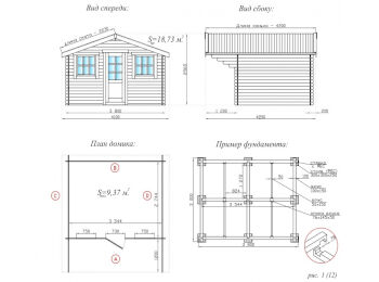 Садовый домик 3х3.8 002
