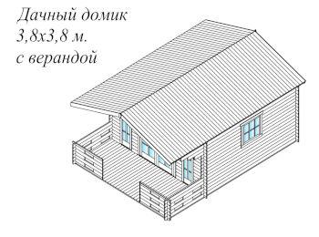 Дачный домик 3.8х5.3 001