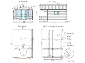 Дачный домик 3.8х5.3 002