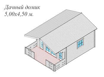 Дачный домик 5х6 001