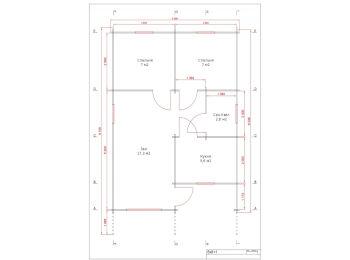 Дом 6х8+1 (+ веранда 3 м) 001