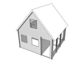 Дом 5,2х5,2 (утеплённый, 2 этажа) 001