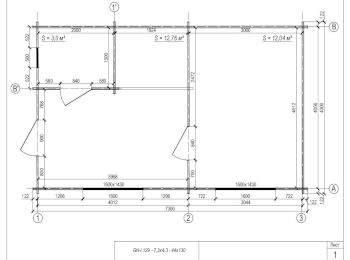 Проект дома 4,3х7,3 001