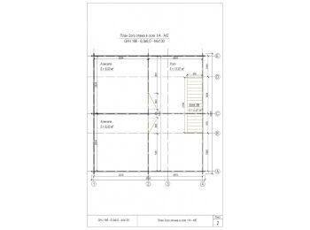 Дом 6х6 (2 этажа) 002