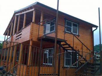 Дачный дом 6,5х10,5 м (2 этажа)