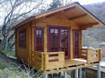 3,8х5,3 м, домик для отдыха, п. Ольгинка