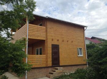 6х8 м, дом два этажа 017