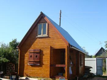 Дом 4х6 м с мансардой,  005