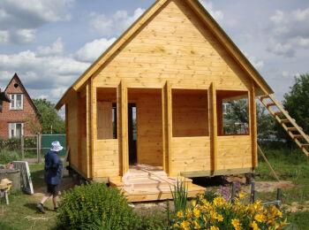 Дачный домик 4х6 м (с мансардой)