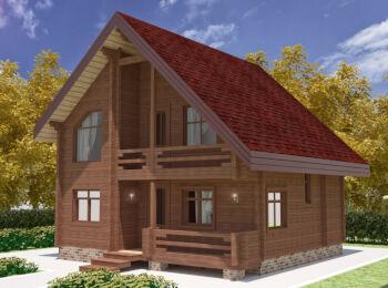 Жилой дом 9,6 х 9,2 м 002
