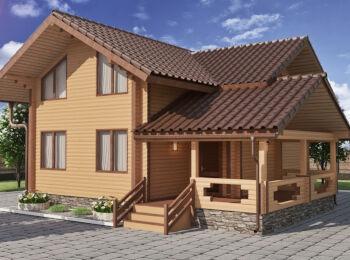 Жилой дом 9,4 х 10,3 м, 2 этажа