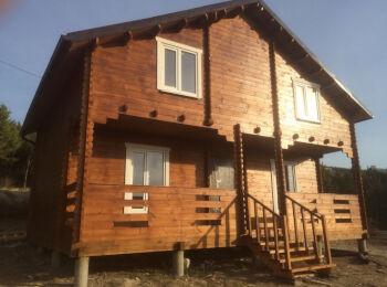 Дачный дом 7х8,5 м (2 этажа)