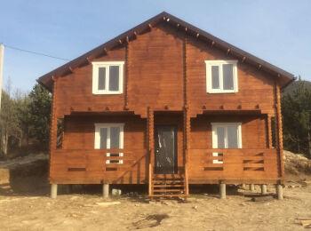 Дачный дом 7х8,5 м (2 этажа) 002