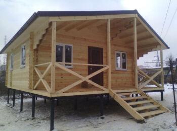 6,6 х 6,6 м + 2 м веранда, дом из двойного бруса, Ростов-на-Дону