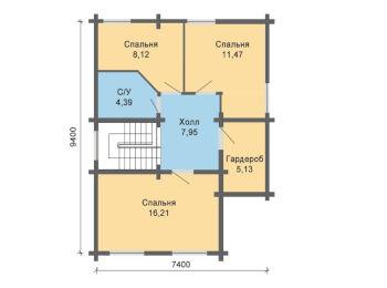 Жилой дом 9,4 х 10,3 м 006