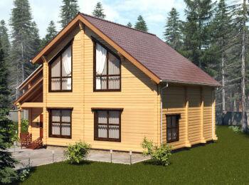 Загородный дом 10 х 10,5 м, 2 этажа