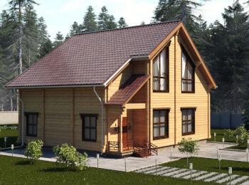 Проект дома 10 х 10,5 м, 2 этажа 002