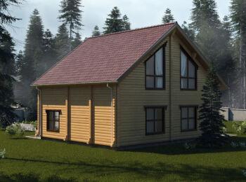 Проект дома 10 х 10,5 м, 2 этажа 003