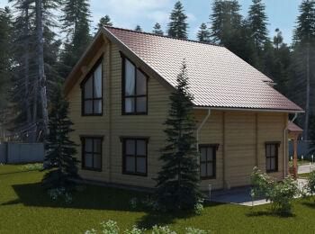Проект дома 10 х 10,5 м, 2 этажа 004