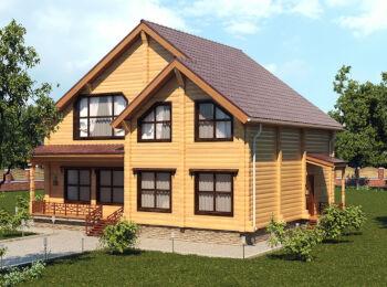 Загородный дом 9,5 х 10,5 м, 2 этажа