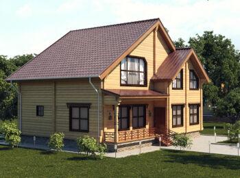 Проект дома 9,5 х 10,5 м, 2 этажа 002