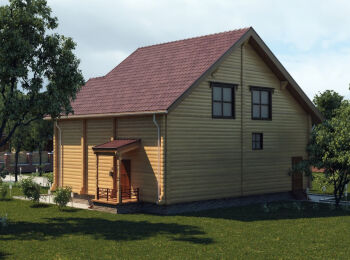 Проект дома 9,5 х 10,5 м, 2 этажа 003
