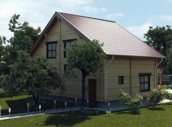 Проект дома 9,5 х 10,5 м, 2 этажа 004